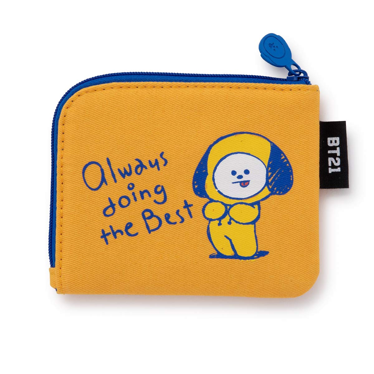 BT21 Character Ppogeul Small Coin Purse ID Credit Card Wallet Toiletry Pouch with Zipper
