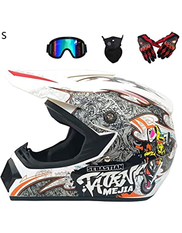 390b8ed75f StageOnline Casco de Motocross Todoterreno - 4PCS Juego de Casco Road  Racing para el Casco Integral