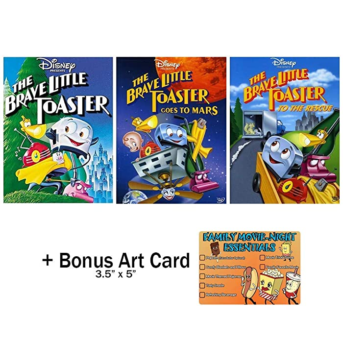 The Brave Little Toaster: Complete Animated Movie Series DVD Collection - 3 Films + Bonus Art Card