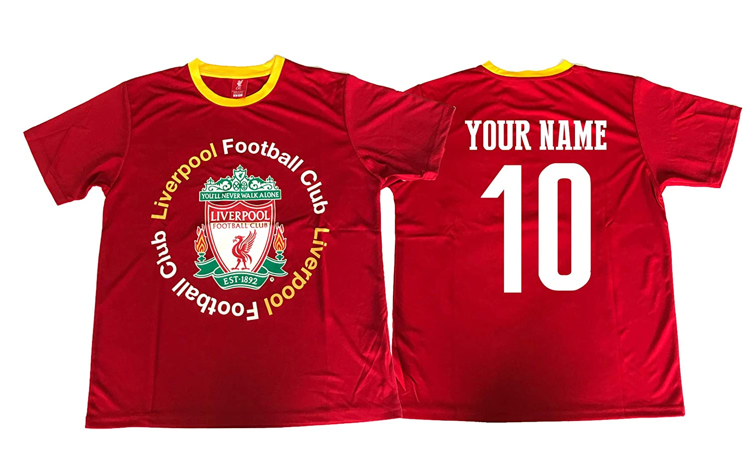 buy popular 40aef baffe ICON SPORTS Liverpool Soccer Jersey Adult Men's Training Custom Name and  Number