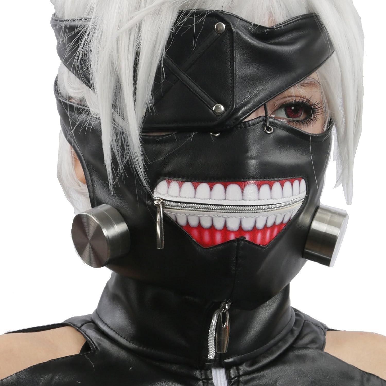 Amazon.com: Ken Kaneki Mask Eye Patch Cosplay Costume Props ...