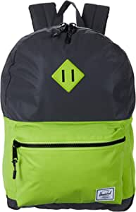 Herschel Supply Co. Heritage Youth XL Backpack (Youth) Reflective Black/Lime Green One Size