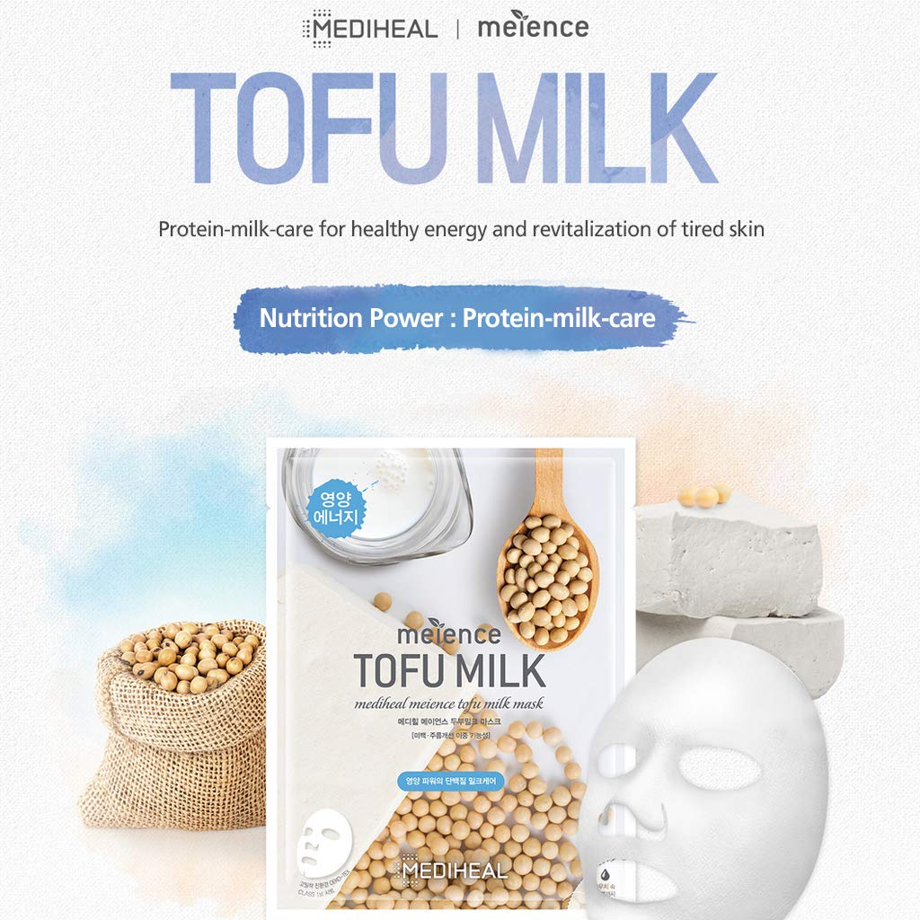Amazon.com : MEDIHEAL Meience Tofu Milk Mask 10 Masks - Nourishing &  Revitalizing Facial Mask Sheet, Naturally-Aged Healthy Mask, Bamboo Sheet,  Soft Milk Essence : Beauty