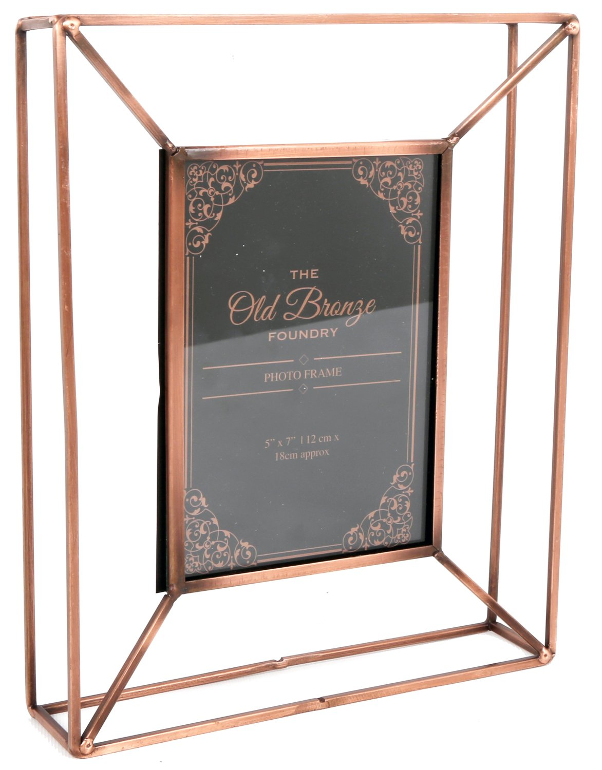 The Old Bronze Foundry Copper Style Wire Box Frame ~ Freestanding Photo  Frame 5 X 7: Amazon.co.uk: Kitchen U0026 Home