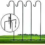 XDW-GIFTS Shepherd-Hooks Adjustable Lantern Plant-Hook Garden-Stake - 35 Inch 4 Pack Plant Stand Hanger for Outdoor Flower Ba