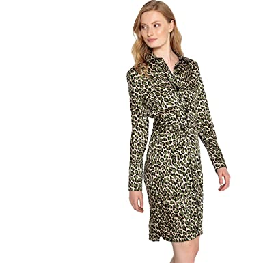 1e537f65ba8 La Redoute Collections Womens Leopard Print Shirt Dress with Belt at Amazon  Women s Clothing store
