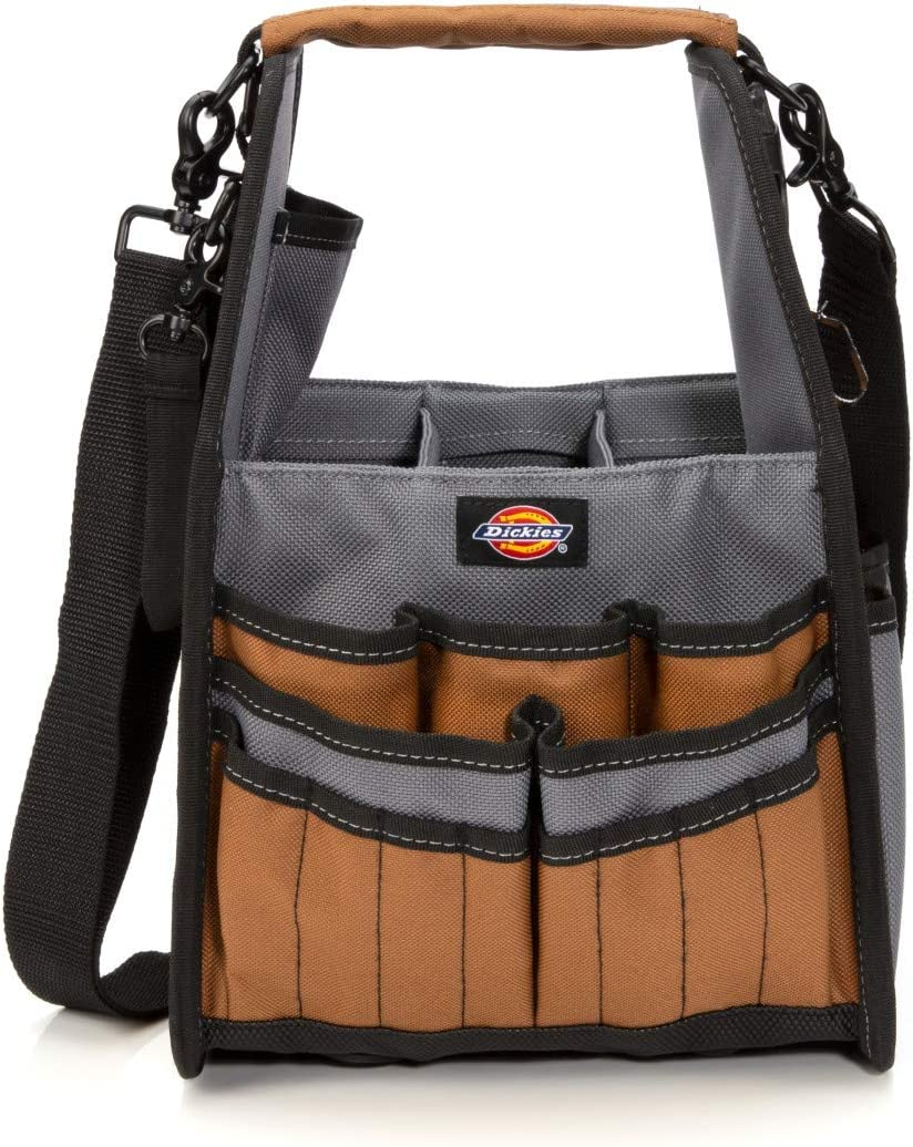 Dickies 23-Pocket Utility and Maintenance Tote Tool Organizer, Detachable Padded Shoulder Strap, Puncture Resistant