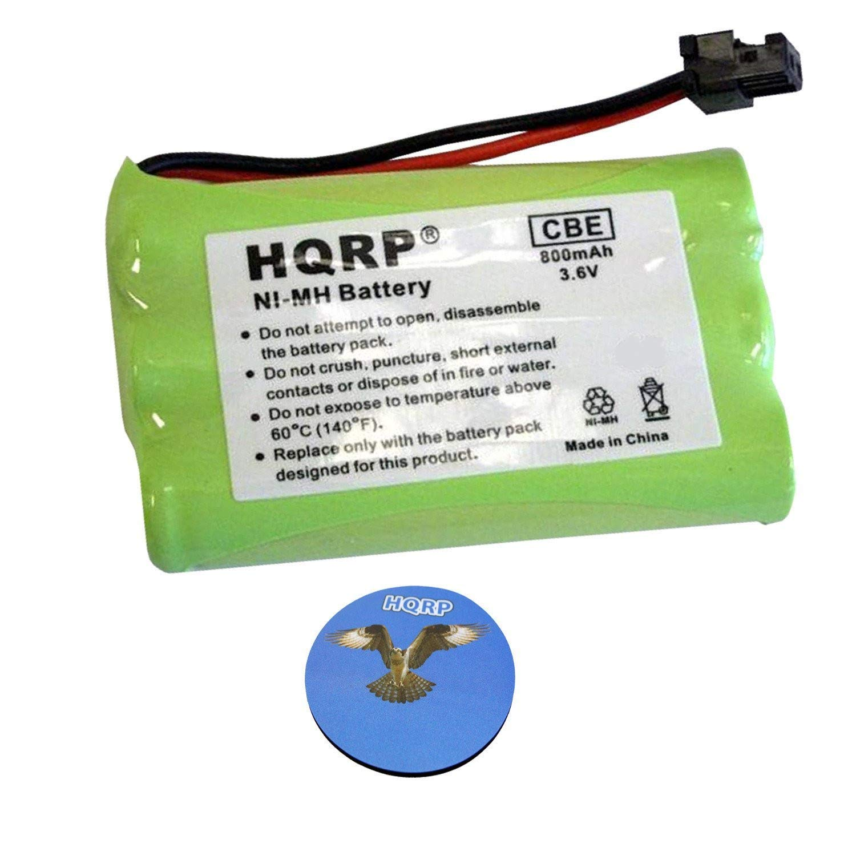 HQRP Cordless Phone Battery Compatible with Lenmar CBC909, BATT-909, ER-P512 / ERP512GRN Replacement Plus Coaster