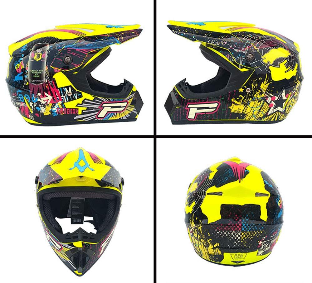 VVHELMETS Caschi da Moto Motocross /& Guanti E Occhiali Casco Go Go Kart