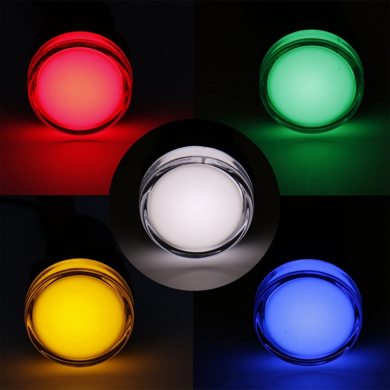 Heschen AD16-22D//S Lot de 5 voyants LED 220 V AC 20 mA Rouge