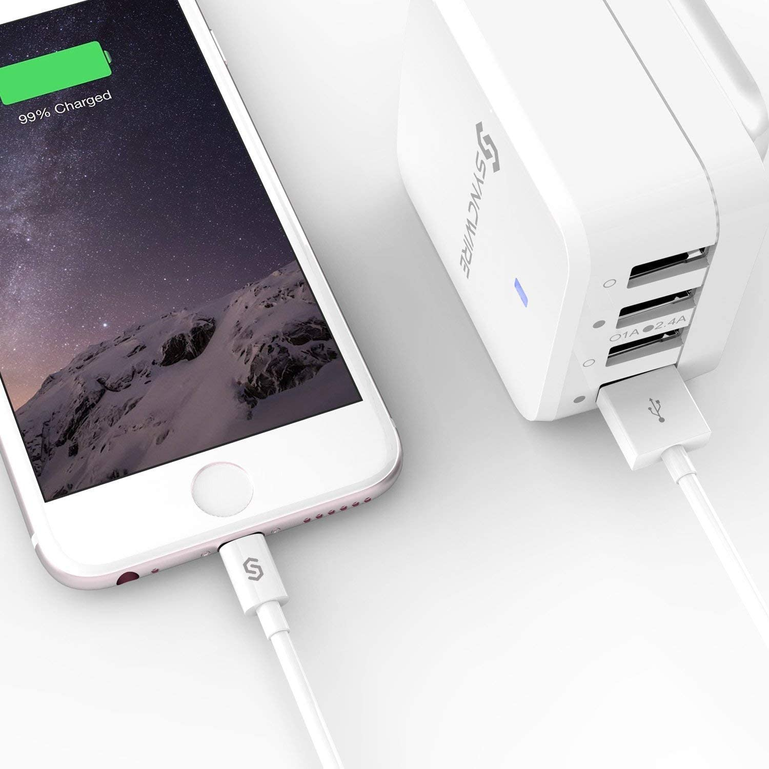- 6.5ft//2m Long Lightning Cable Apple Fast USB Charging Cable Lead for iPhone 11 XS MAX XR X 8 Plus 7 Plus 6s 6 Plus SE 5 Syncwire Apple iPhone Charger Cable Upgrade Apple MFi Certified iPad iPod