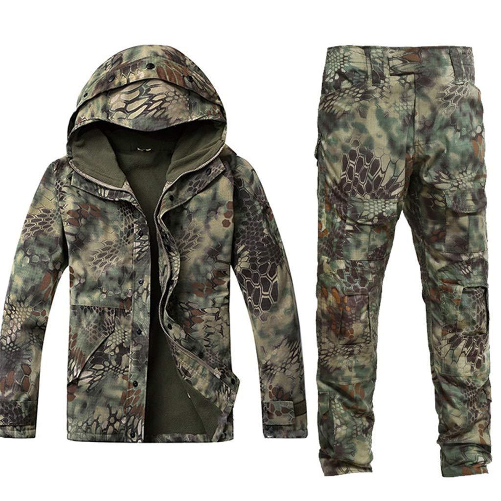 Armee Grün Camouflage Plus Samtanzug, Special Forces Tactical Suit Camo Jagdanzug für Outdoor Hidden Jagd Angeln Camping Abenteuer Reiten Männer und Frauen gelten (größe : M)