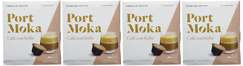 Port Moka Cápsulas de Café con Leche Compatibles Sistema Dolce Gusto - 4 Paquete de 16 Unidades: Amazon.es: Alimentación y bebidas
