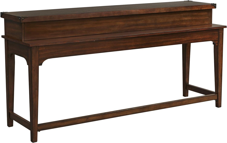 Liberty Furniture Industries Aspen Skies Console Bar Table, W74 x D21 x H36, Medium Brown