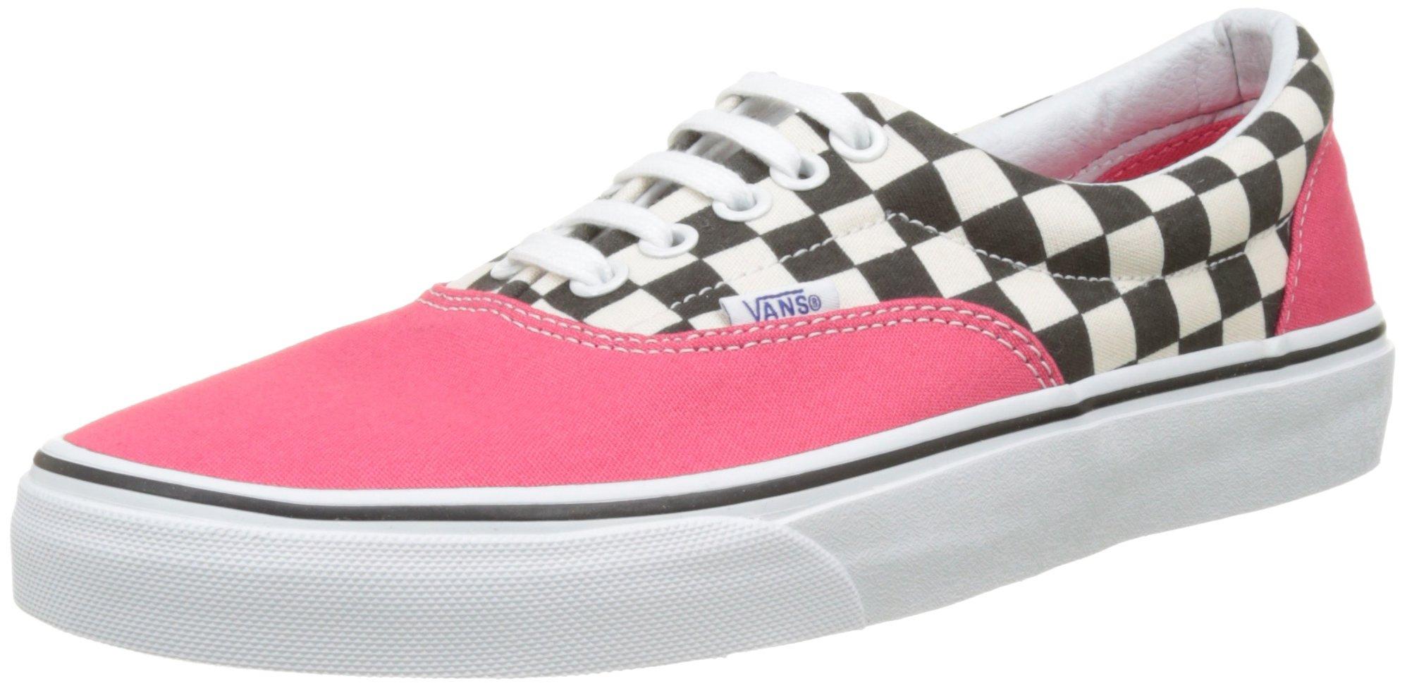 5ef520cd2b488 Vans Unisex Era (2-Tone Check) Skate Shoe (8.5 D(M) US Men, Rouge Red)