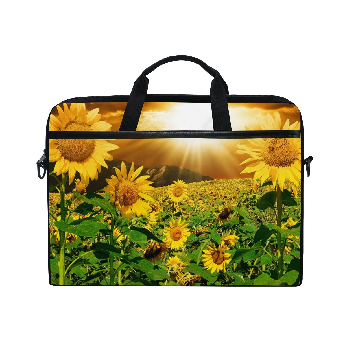 8b41848872b1 YZGO 15 15.6 inch Laptop Briefcase,Sunset Sunflowers Field Print ...