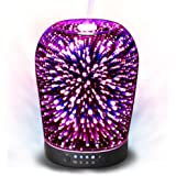 MELLER Essential Oil Diffuser Night Light 3D Effect Cool Mist Humidifier Ultrasonic Aromatherapy Diffuser with 14 Color Changing LEDs,Waterless Auto-off for Home,Office,Yoga,Baby,Sleep