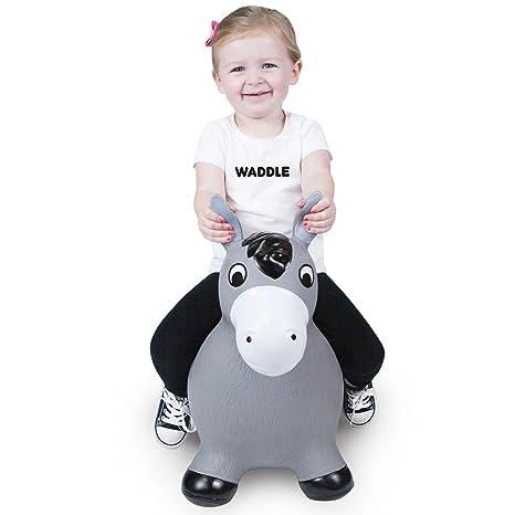 4acb9a1de Amazon.com  WADDLE Fun Kids Bouncy Toy Hopping Horse Hopper Play ...