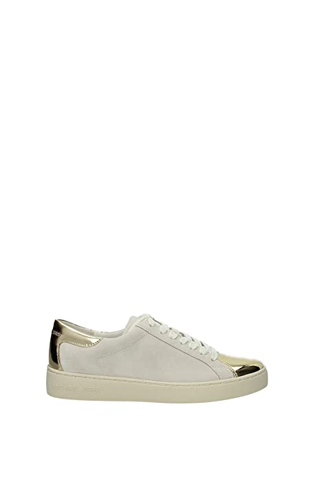 53124b10cead1 MICHAEL Michael Kors Women's Frankie Sneaker Chalk/Pale Gold 8.5 M ...