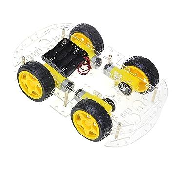 The perseids Smart Robot Car Chassis, 4WD Chasis Robot Arduino, Kit de chasis para Coche, 4 Ruedas con Encoder de Velocidad para Arduino DIY: Amazon.es: ...