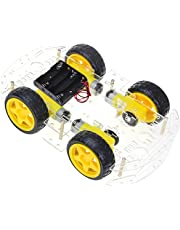The perseids Robot Car Chassis Kit Smart Educational Toy DIY Programmable Project with Speed Encoder, Wheels and Battery Box for Arduino/Microbit/Raspberry Pi (4WD)