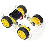 The perseids DIY Robot Smart Car Chassis Kit with Speed Encoder, 4 Wheels and Battery Box (4 Wheels)
