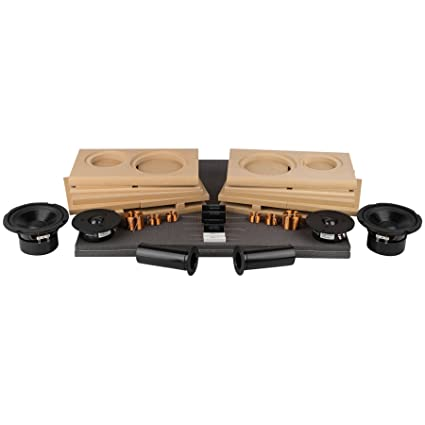 Parts Express Tritrix MT Bookshelf Speaker Kit Pair With Knock Down Cabinets