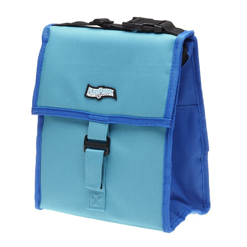 FlexiFreeze Freezable Lunch Tote Cooler, TEAL/Blau by FlexiFreeze
