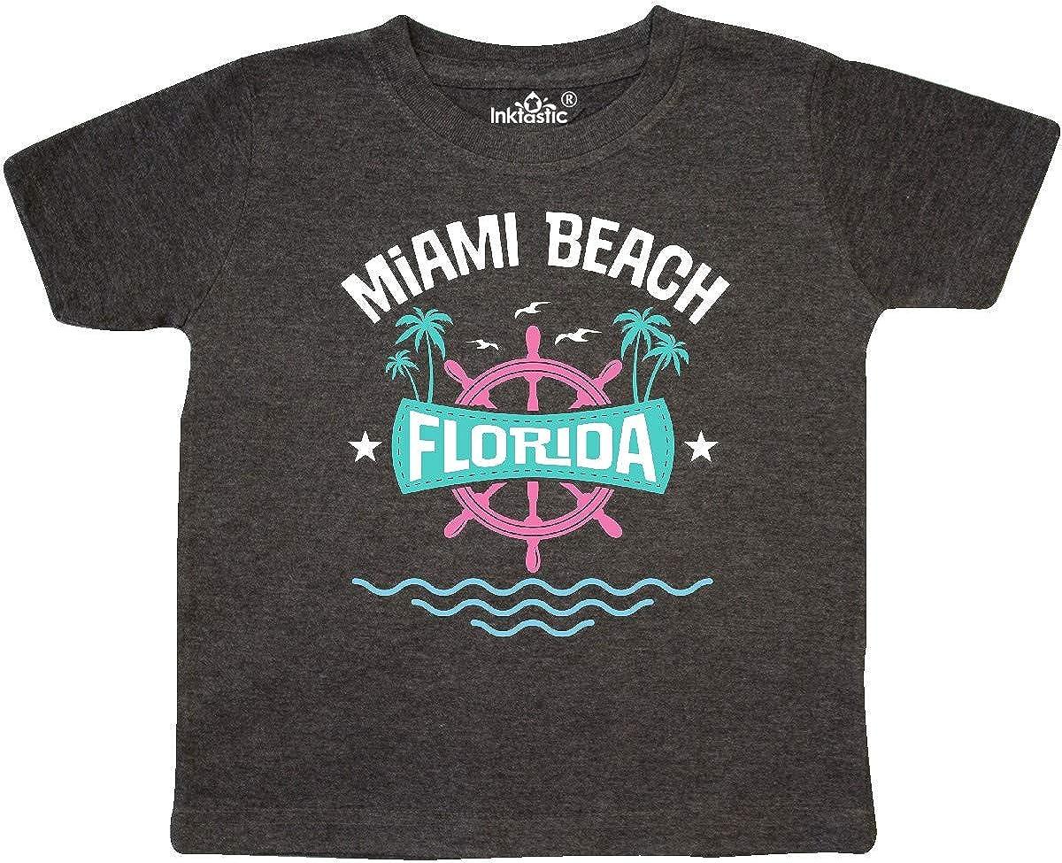 inktastic Miami Beach Florida Vacation Toddler T-Shirt