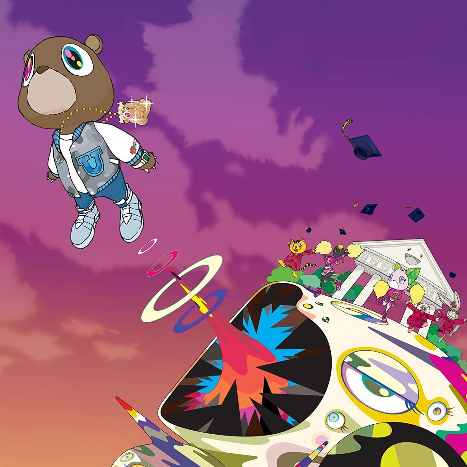 Kanye West Graduation Poster Art Print Posters 11/×11 inches Unframed Canvas Print