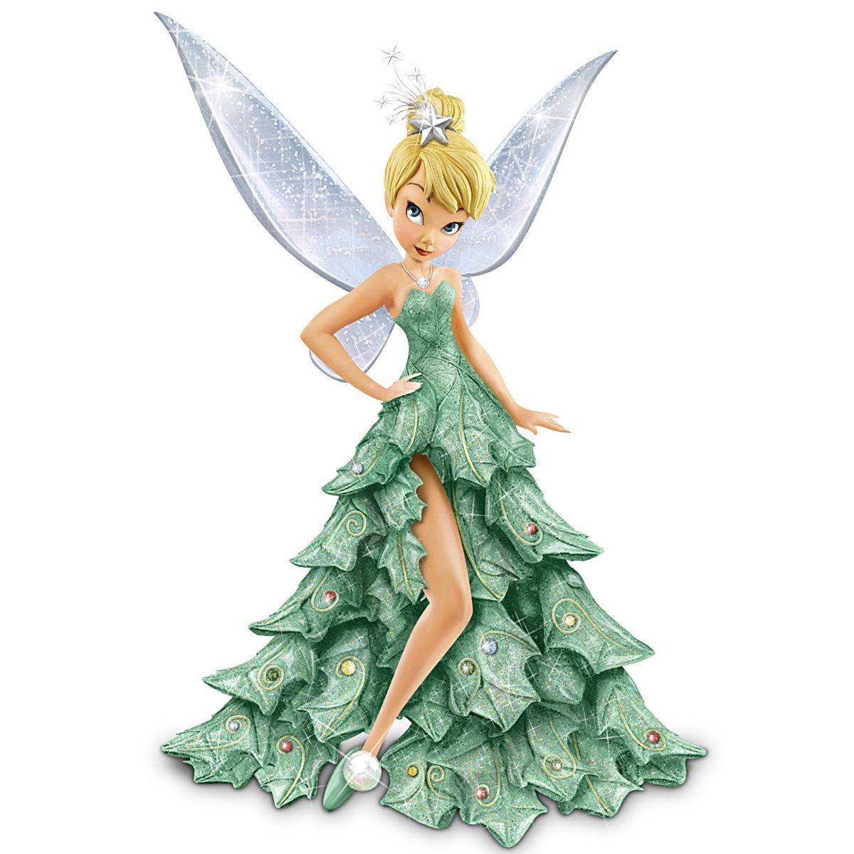 Amazon.com: Bradford Exchange Disney Tinker Bell Christmas Figurine ...