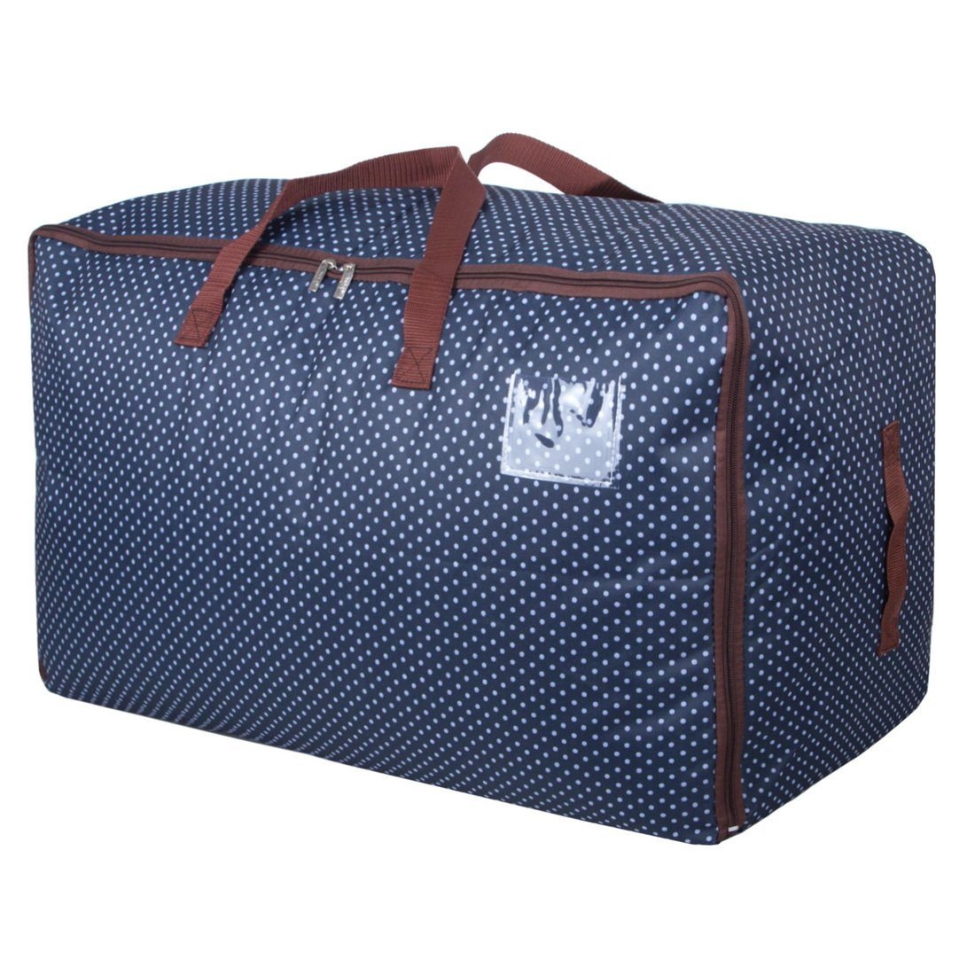 DOKEHOM DKA1011BL2 100L Large Storage Bag (4 Colors), Fabric Clothes Bag, Thick Ultra Size Under Bed Storage, Moisture Proof (Blue) IMOTECH TECHNOLOGY