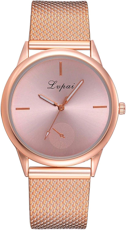 Leedy 2019 - Reloj de pulsera analógico de cuarzo para mujer, acero inoxidable con malla, ultradelgado, elegante, regalo
