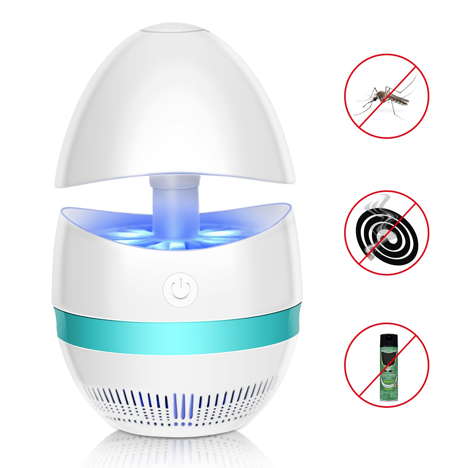 Cynkie Bug Zapper Indoor Mosquito Killer Lamp Electronic Insect Killer, Safe USB Powered Mosquito Zapper with Built in Fan Insect Trap for Indoor Bedroom Kitchen Outdoor Garden Patio Yard Office