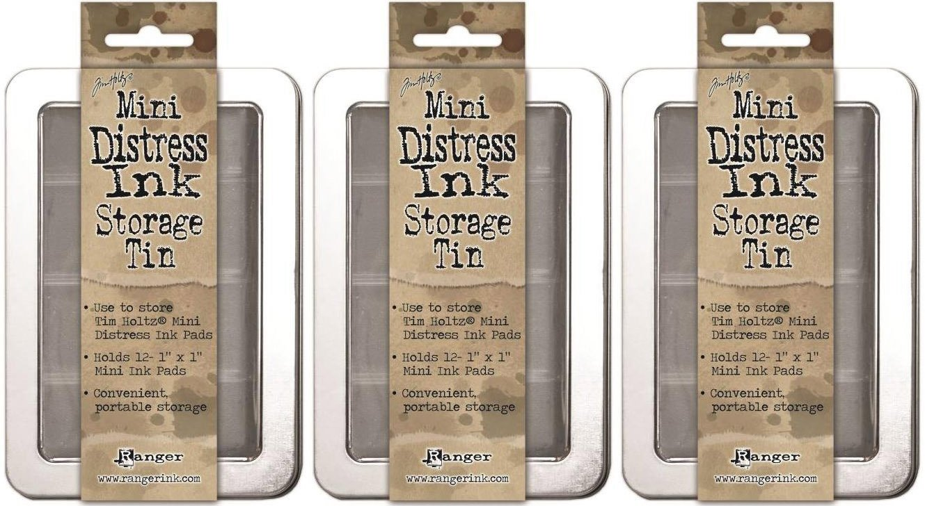 Tim Holtz Mini Distress Ink Storage Tins - (Pack of Three Tins) Ranger TDA42013