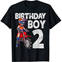 Motocross 2 cumpleaños niños MX 2 años de edad Dirt Bike Camiseta