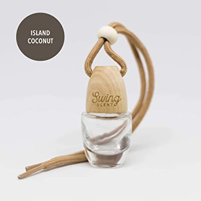 Swing Scent Air Freshener (Island Coconut) Hanging Fragrance Diffuser For Car or Small Space: Automotive