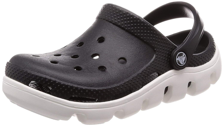 schwarz   Weiß Crocs Duet Sport Clog, Unisex - Erwachsene Clogs