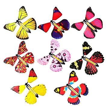 Ruiting Fee Magique Volant Dans Le Livre Papillon Bande De Caoutchouc Propulse Jouet Papillon Grand Cadeau D Anniversaire Surprise 4pcs