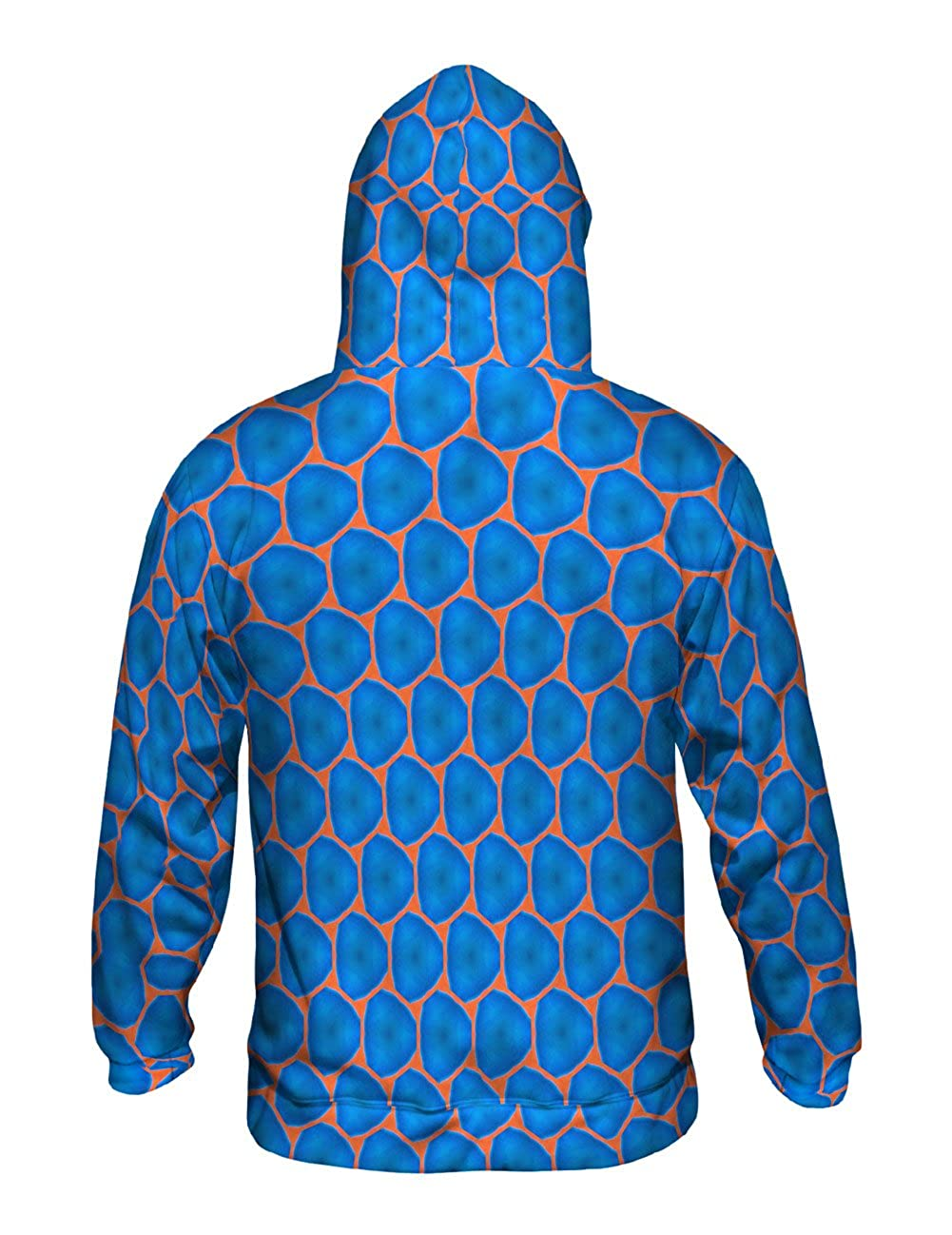 Yizzam Blue Orange Colorful Triangles Mens Hoodie Sweater Allover Print