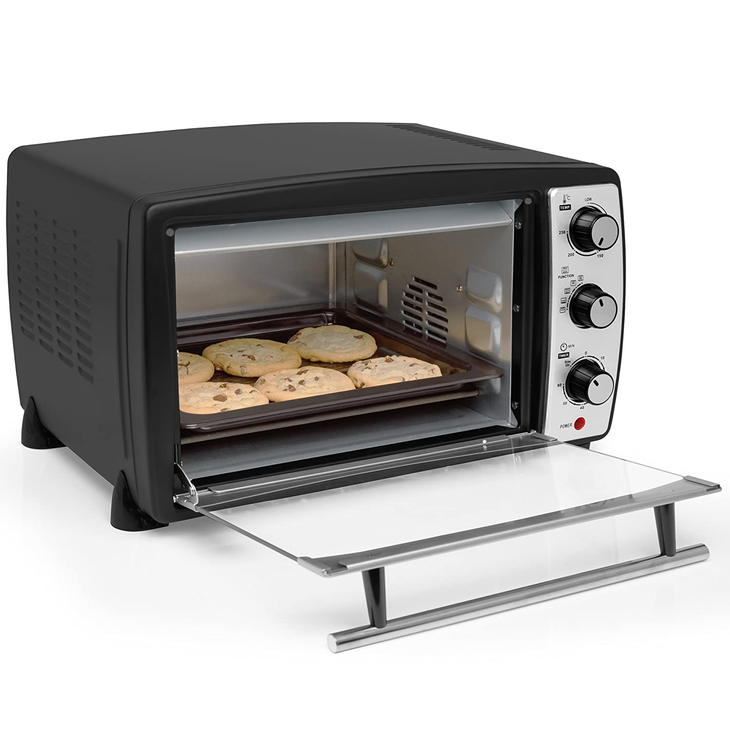 Andrew James Mini Oven Electric Cooker And Grill 20l Fast Heating Argos Hob Toaster Ovens At 230c With Timer Rack Baking Tray Small Enough For Table Top Use