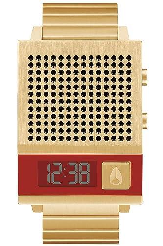 Nixon The DORK Too Reloj para Hombre Digital de Cuarzo con Brazalete de Acero Inoxidable bañado en Oro A1266502: Amazon.es: Relojes