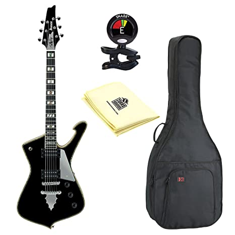 Ibanez PS serie PS120 Paul Stanley firma 6 cuerdas Guitarra eléctrica en color negro brillante acabado