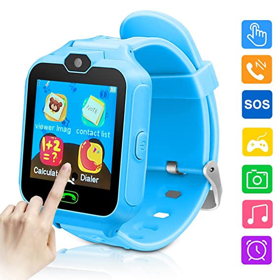 Kids Smart Watch-Phone Watches for Children Girls Boys 1.44 inch Touch Screen Camera Anti-Lost SOS Digital Wrist Watches