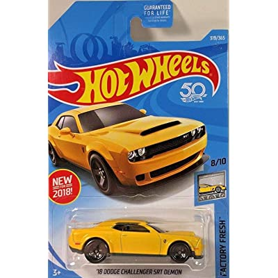 Hot Wheels 2020 Factory Fresh - '18 Dodge Challenger SRT Demon (319/365): Toys & Games