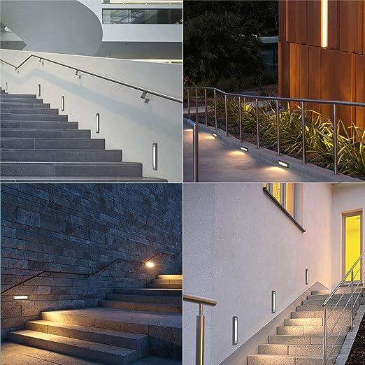 Luces Enterradas,Escalera De Luz De Escalera Al Aire Libre Impermeable A Prueba De Polvo Paisaje Patio Jardín Lámpara De Esquina: Amazon.es: Iluminación