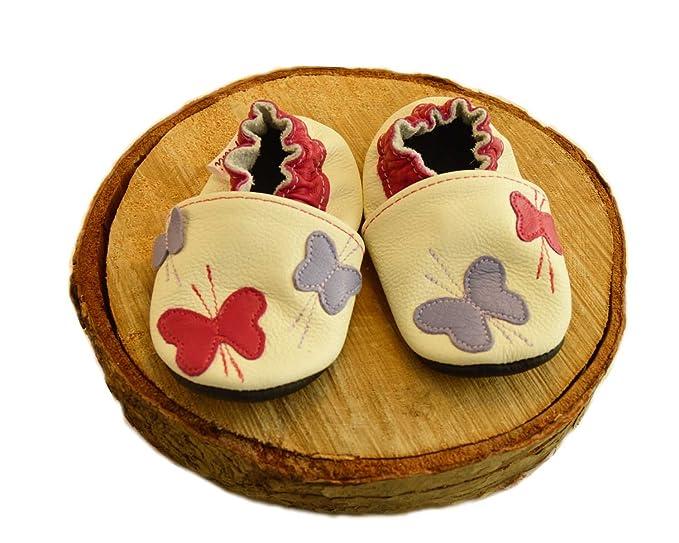 Mocasines de piel para bebé de Malí. Suela suave para los primeros zapatos de mariposa. - Multi - X-Small /0-6 US: Amazon.es: Ropa y accesorios