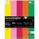 "Astrobrights Color Paper, 8.5"" x 11"", 24 lb / 89 gsm, ""Vintage"" 5-Color Assortment, 500 Sheets"