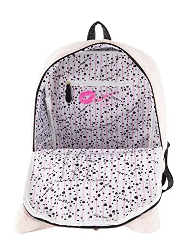 Amazon.com | Luv Betsey By Betsey Johnson Sienna Unicorn Kitch Cat Face Backpack - Blush | Backpacks