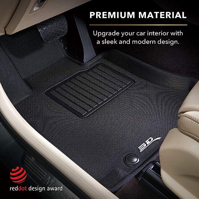 CFMBX1MB9208 Nylon Carpet Coverking Custom Fit Front and Rear Floor Mats for Select Mitsubishi Galant Models Black